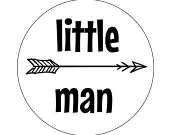 12 Arrow Little Man Stickers, Tribal Stickers, Envelope Stickers, Its a Boy, Personalized Stickers, Little Man, First Birthday