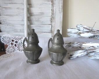Vintage Metal  Salt and Pepper Shakers | Vintage Serving | Home Decor | Country  Kitchen