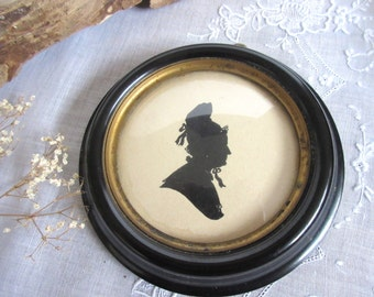 Antique Silhouette Martha  Washington  Collectible .