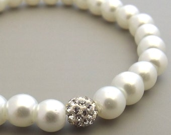Flower Girl Gift, Baby Child Infant Bracelet Jewelry, Children's Pearl Bracelet, Flower Girl Jewelry,Wedding Jewellery,Flower Girl Keepsake