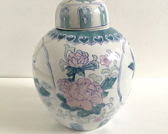 Vintage Large Chinoiserie Ginger Jar