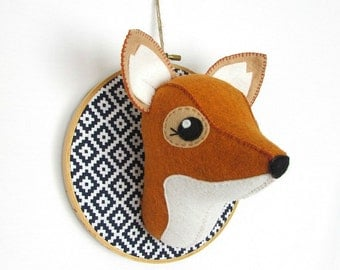MADE TO ORDER Fox Faux Taxidermy