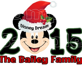 Custom Personalized Mickey Mouse CHRISTMAS Disney Cruise Line Stateroom Door Magnet