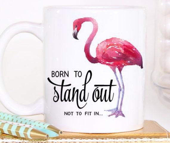 coffee mug ceramic mug flamingo mug unique coffee mug. Black Bedroom Furniture Sets. Home Design Ideas