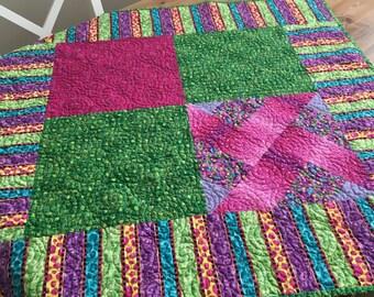 Bold & Bright handmade baby quilt