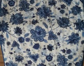 Blue Floral Table Runner