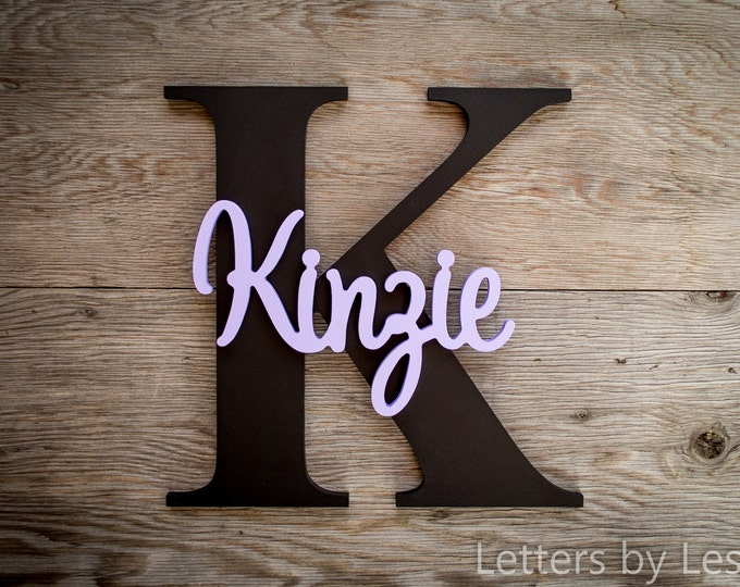 Large - Nursery Decor, Wood Letters, Custom made, Wall hanging sign, Girl Nursery, Boy Nursery
