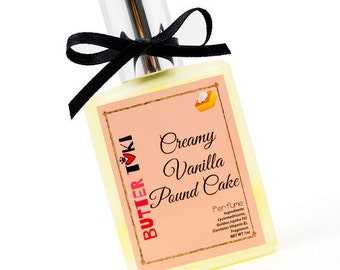 CREAMY VANILLA POUND Cake Fragrance Oil Based Perfume 1oz