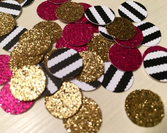Glitter and Stripped Kate Spade inspired Confetti (100 pieces)