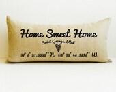 housewarming pillow, housewarming gift, home decor, accent pillow, realtor gift, home sweet home, pillow, new home gift, custom pillow