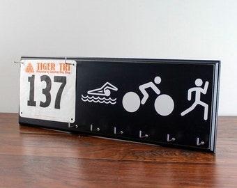 Triathlon medals holder - swim bike run race