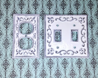 Cast Iron Switch Plate Cover, Outlet Cover, Custom Outlet Cover, Historical Hardware, Historical Switch Cover, Historical Antique Decor