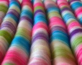 Sweet Rolls - Rolags hand blended for spinning - 1 oz increments - Christmas in Candyland