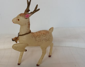 Plastic Celluloid Deer with Sparkles