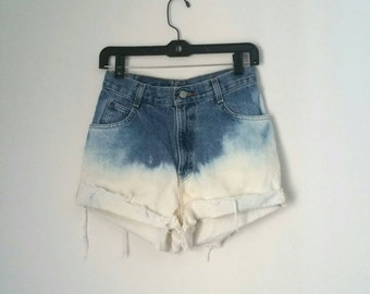 Dip Bleached High Waisted Shorts