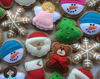 Fabulous Felt Christmas Ornaments/ Christmas Ornaments/Christmas Decorations/Christmas Cookies/Felt Christmas Decorations/Felt Ornaments