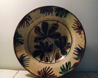 beautiful very large ceramic terracota bowl
