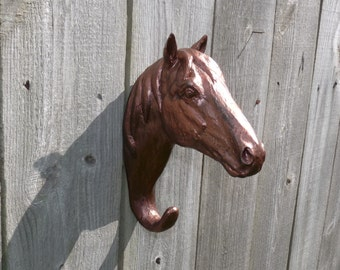 Men's Decor, Barn Decor, Extra Large Horse Head Hook, Horse Wall Hook, Large Wall Hook, Home Decor, Western Decor, Cottage Chic, Dorm Decor