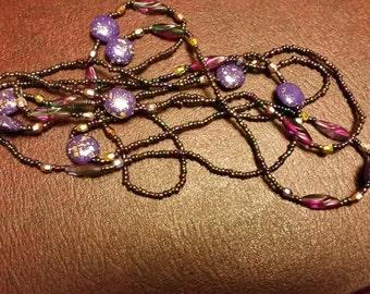 SALE! Vintage Soft Purple Bead Strand - 60 inches