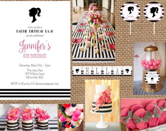 BARBIE // Birthday + Baby + Bridal Shower + Bachelorette Invitation // Full Service Printing + Coordinating Items
