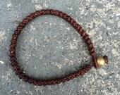 Bracelet Snake 01 2mm Leather Handmade (B6201-L)