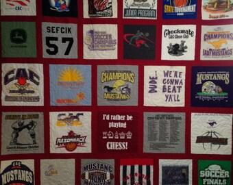 30-Block T-Shirt Quilt