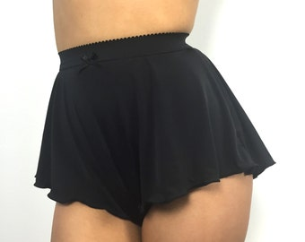 Tall French Knickers in Black or White- High waisted retro lingerie