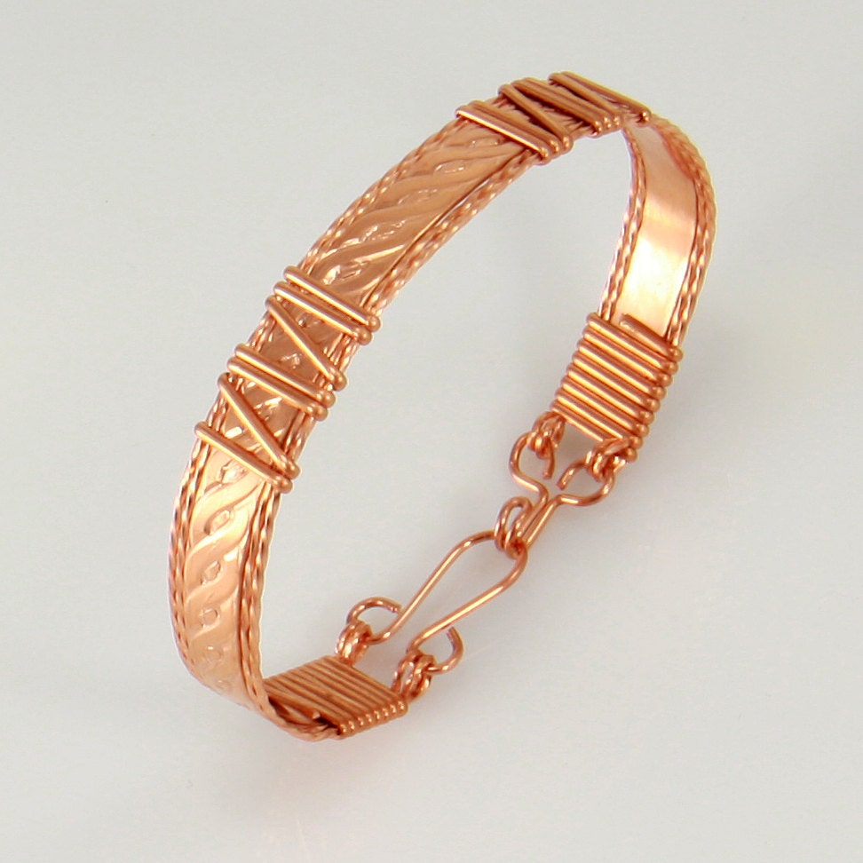 copper wire wrap bracelet personalize bracelet wire wrap