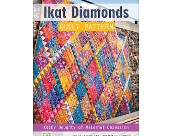 "Pattern ""Ikat Diamonds"" Quilt Pattern by Stash Books/C&T Publishing (80072) Paper Pattern"