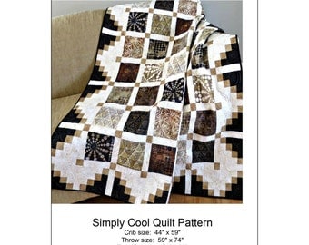 """Pattern """"Simply Cool"""" Quilt Pattern by Pleasant Valley Creations (444) Paper Pattern Instructions"""