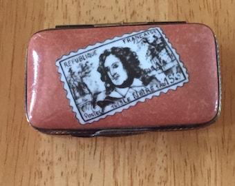 Limoges Enamel Stamp Box...Free Shipping...20% Off Coupon...TAKE20