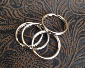 30 Pieces Split rings, Medium split rings, 20mm, Key ring, Key ring silver finish, Bulk, 30-1-30