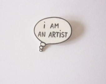 Porcelain speech bubble brooch
