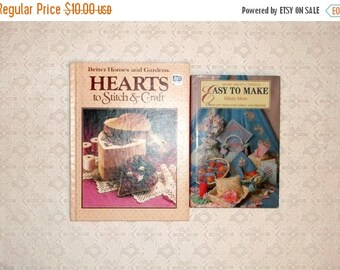 ON SALE Hearts to Stitch and Craft Easy Gifts to Make Book Set 2pc