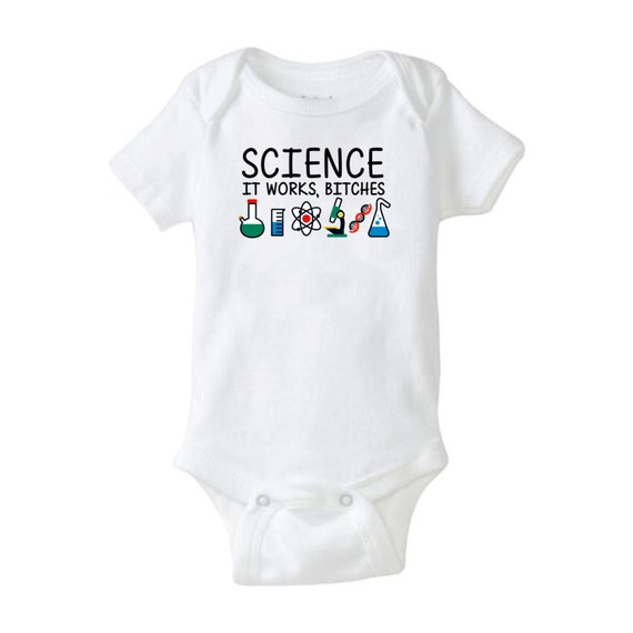 Science Baby Gifts Australia : Science baby onesie it works es cool shower gift