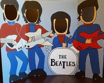 The Beatles Hand Drawn and Painted Photo Op Display / Cutout Board!