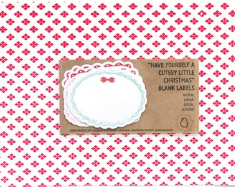 Sweet Christmas Holiday Sticker Labels - Have Yourself A Cutesy Little Christmas! (Pack of 8)