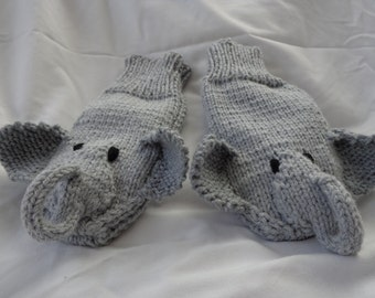 Elephant Mittens-Adult/Youth size