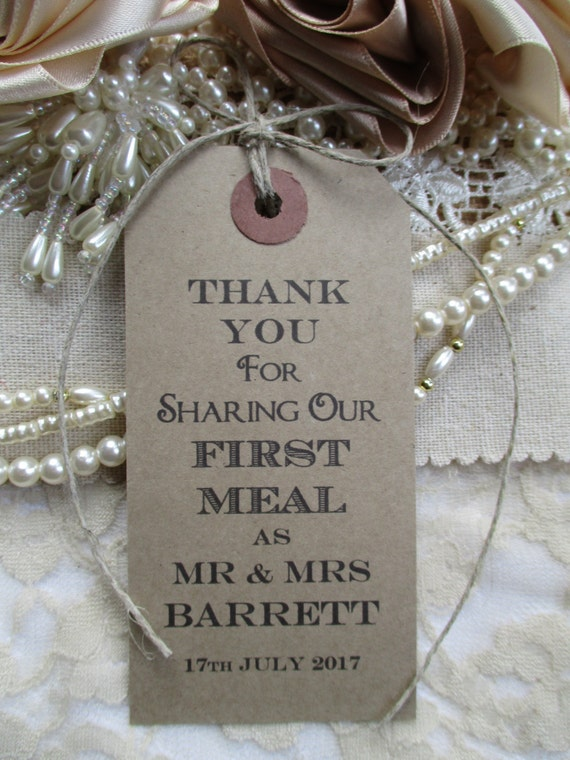 100 Wedding Napkin Ties Wedding Table Decor Tags By