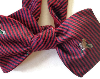 Silk Bow Tie for Men - Mallard - One of-a-Kind, Handtailored, Self-tie - Free Shipping