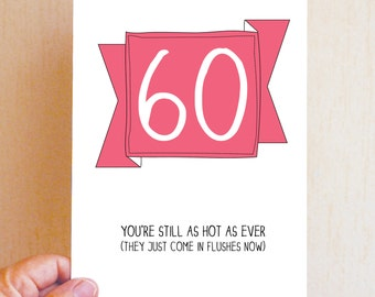 Happy 60th Birthday Card / Funny Birthday Card / Funny 60 Card