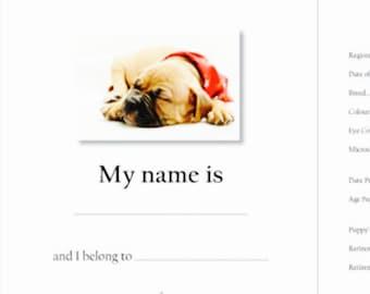 Puppy Record Book