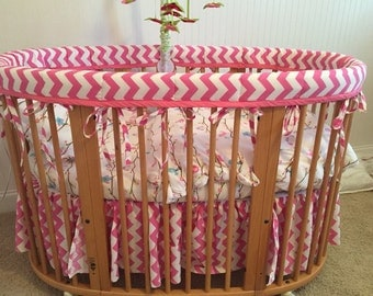 Oval Crib Ruffled Skirt