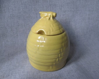 Frankoma Beehive Honey Pot/Jelly Jar in Autumn Yellow 12 oz