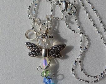 Swarovski Crystal Dragonfly Pendant