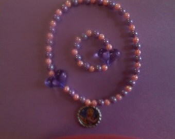 Rapunsel Stretch Necklace and Bracelet Set