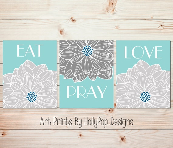 Modern Kitchen Wall Decor Eat Pray Love Trio By: Dining Room Wall Art Christian Decor Eat Pray Love Art Prints