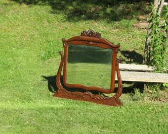Sweet Antique Oak Framed Mirror