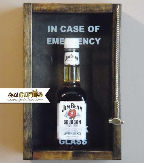 In case of emergency break glass small liquor bottle gag for How to break bottom of glass bottle