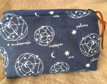 Constellations Print Zipper Pouch/Makeup Bag